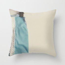 Doll Closet Series - Blue Dress Throw Pillow