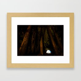 Camp at Big Basin Framed Art Print