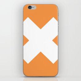 X WHITE iPhone Skin