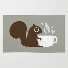 Squirrel Coffee Lover Rug