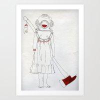 scuba Art Prints featuring Scuba by Serga
