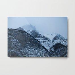 Cascade Mountain Fog Metal Print