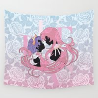 madoka Wall Tapestries featuring Utena la filette revolutionnaire by Neo Crystal Tokyo