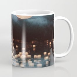 Fantasy lake with moonlight Coffee Mug