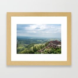 House on a Hill in Bali Framed Art Print