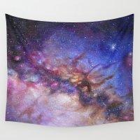 milky way Wall Tapestries featuring Milky Way by Trisha Thompson Adams