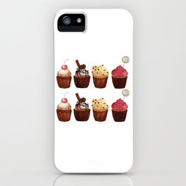 double row of cupcakes iPhone Case