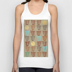 Pods and Seeds 2 on Linen Unisex Tank Top