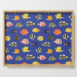 Exotic School Of Reef Fish Serving Tray