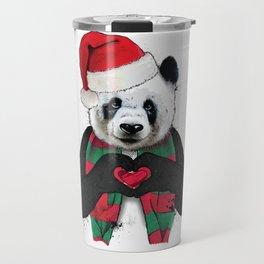 Cute Christmas Panda Holiday Love Shirt Travel Mug