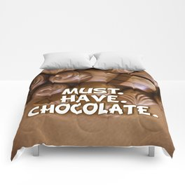 Must. Have. Chocolate. Comforters