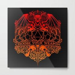 dragon fire Metal Print
