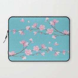 Cherry Blossom - Robin Egg Blue Laptop Sleeve