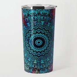 Bohemian Passion Blue & Red Mandala Design Travel Mug