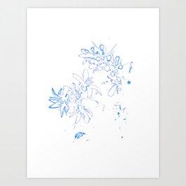 OB Blue & White Art Print