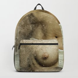 Venus. Nude woman watercolor Backpack