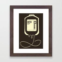 Coffee Transfusion Framed Art Print