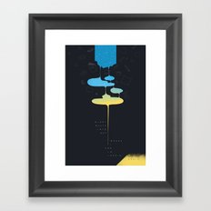 End/Begin Framed Art Print