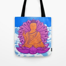 Peace Buddha in the Sky Tote Bag