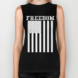 Freedom American Flag Graphic Biker Tank