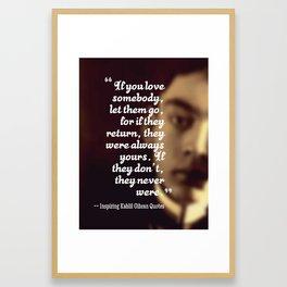 Most Inspiring Kahlil Gibran Quotes - 6 Framed Art Print