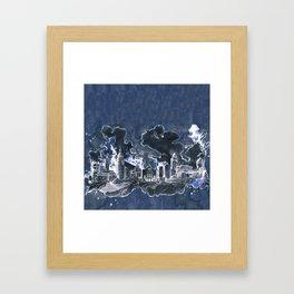 Cottbus Skyline by carographic, Carolyn Mielke Framed Art Print