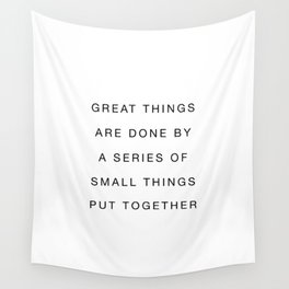 Small things put together Wall Tapestry