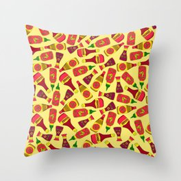 Condiments and Sauces Throw Pillow