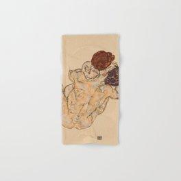 """Egon Schiele """"Mann und Frau, Umarmung"""" Hand & Bath Towel"""