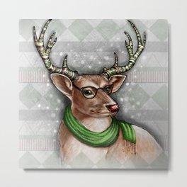 Fairisle Reindeer Metal Print