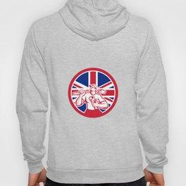 British Drainlayer Union Jack Flag Icon Hoody