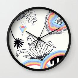 Rainbow Slime Terrarium - Version 3 Wall Clock