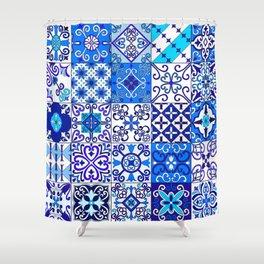 Moroccan Tile islamic pattern Shower Curtain
