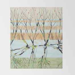 withered tree Throw Blanket