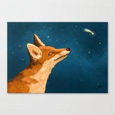 Fox and Stars Canvas Print