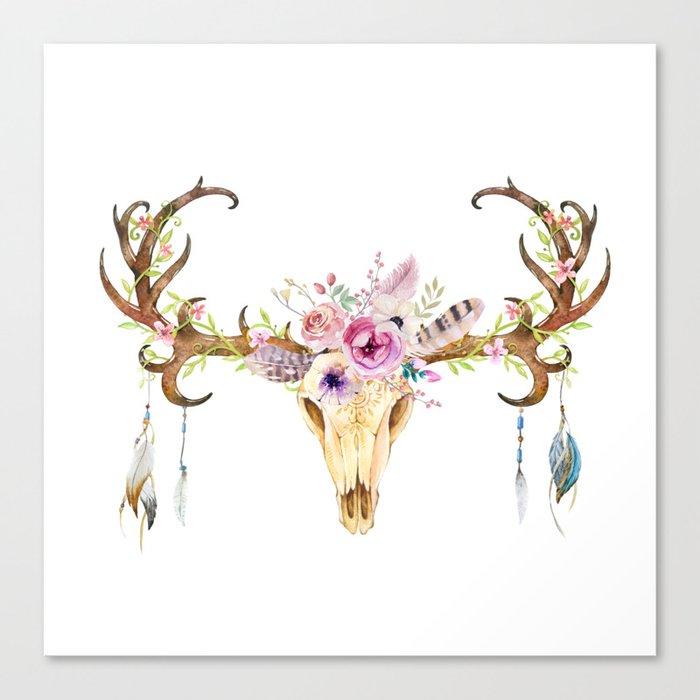 Deer Skull Leinwanddruck