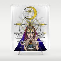 madonna Shower Curtains featuring Madonna Of Hollywood by I/S/P