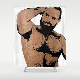 wooden alex Shower Curtain