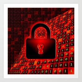 Secure data concept. Art Print