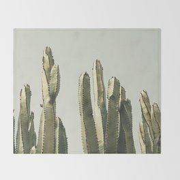 Desert Cactus 2 Throw Blanket