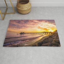 Malibu Pier At Sunset California United States Ultra HD Rug