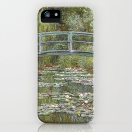 Water Lily Pond (Japanese Bridge) iPhone Case