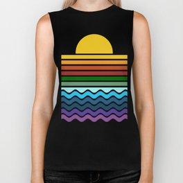 Geometric Rainbow Nature Biker Tank