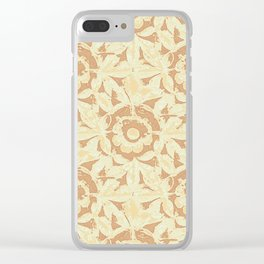 Sculpted Floral Stonework Clear iPhone Case