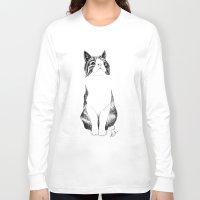 monty python Long Sleeve T-shirts featuring Monty the cat by Anna Johansen