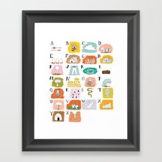 Illustrated ABC's Framed Art Print