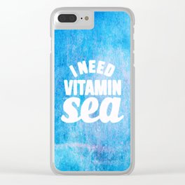 I Need Vitamin Sea Blue Clear iPhone Case