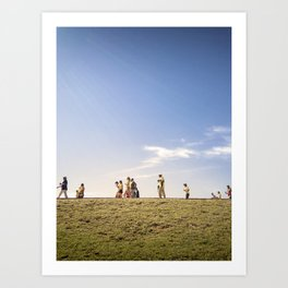 WORLD CUP 2014 way to the game Art Print