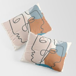 Abstract Profiles 01 Pillow Sham