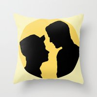 klaine Throw Pillows featuring Klaine Zig Zag by byebyesally